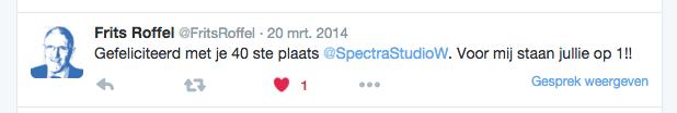 Spectra Studio Works zzp FOTY reactie van Frits Roffel