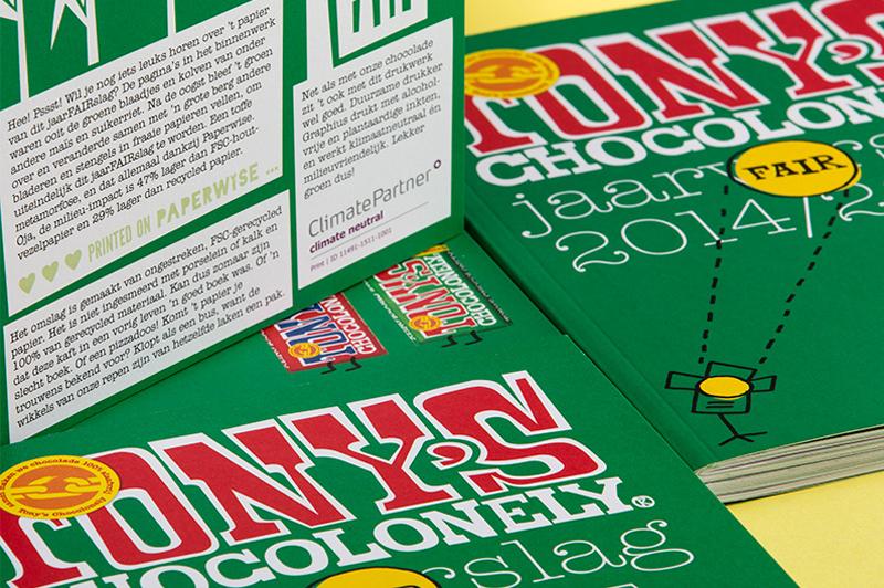 milieu vriendelijk papier van PaperWise voor drukwerk, brochures, jaarverslagen, boeken van Tony's fairtrade chocolade.
