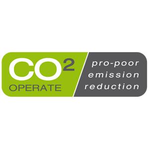 CO2 operate logo biodiversiteit armoede bestrijding op De Duurzame Kaart