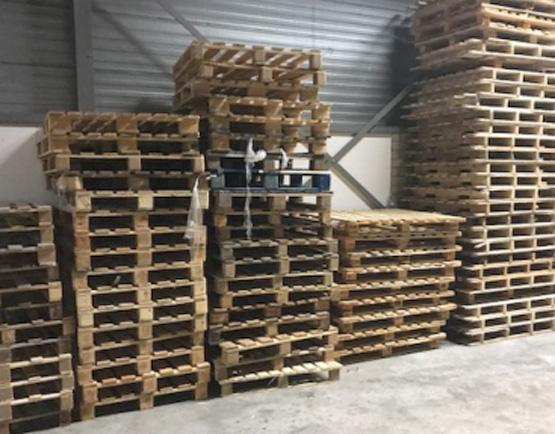 Gebruikte blokpallets, 140 stuks, af te halen in Zwolle