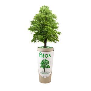 BiosUrna logo. Leven na het leven met de biologisch afbreekbare urn waar boom uitgroeit. Duurzame urn op De Duurzame Kaart