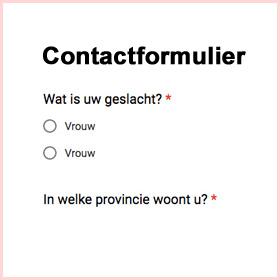 Foute reclame contactformulier De Duurzame Kaart