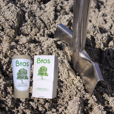 Bios Urn Plantbegeleiding leven als boom crematie as De Duurzame Kaart