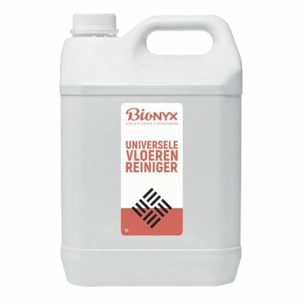 Universele vloerenreiniger bedrijfsvloer schoonmaken BIOnyx 5l voorkant professionele industriële reiniging mvo