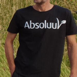 Duurzaam T-shirt man vrouw Absoluut Vegan plantaardig
