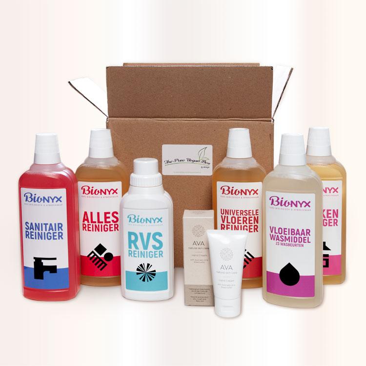 Giftbox BIOnyx The Pure Vegan box XL schoonmaakmiddelen De Duurzame Kaart