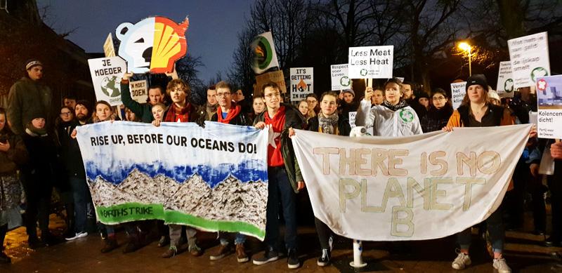 Earth Strike Groningen Nederland Ubbo Emmiusstraat januari De Duurzame Kaart