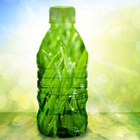 Verschil bioplastics groen fles natuurlijk product