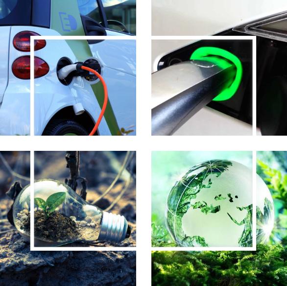 Elektrisch auto koerier duurzaam zero2green aarde idee