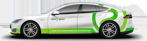 Koeriersauto tesla zero2green duurzaam vervoer De Duurzame Kaart