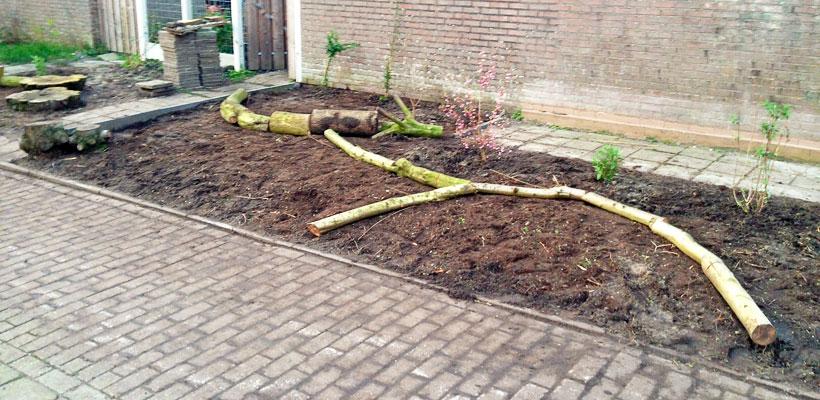 Aanleg insectentuin gemeente strook Groningen