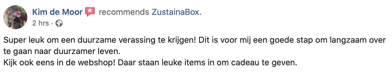 Aanbeveling ZustainaBox 2