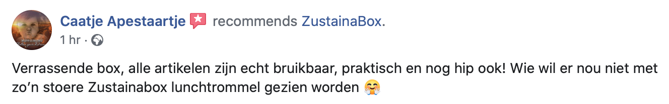 Aanbeveling ZustainaBox 5