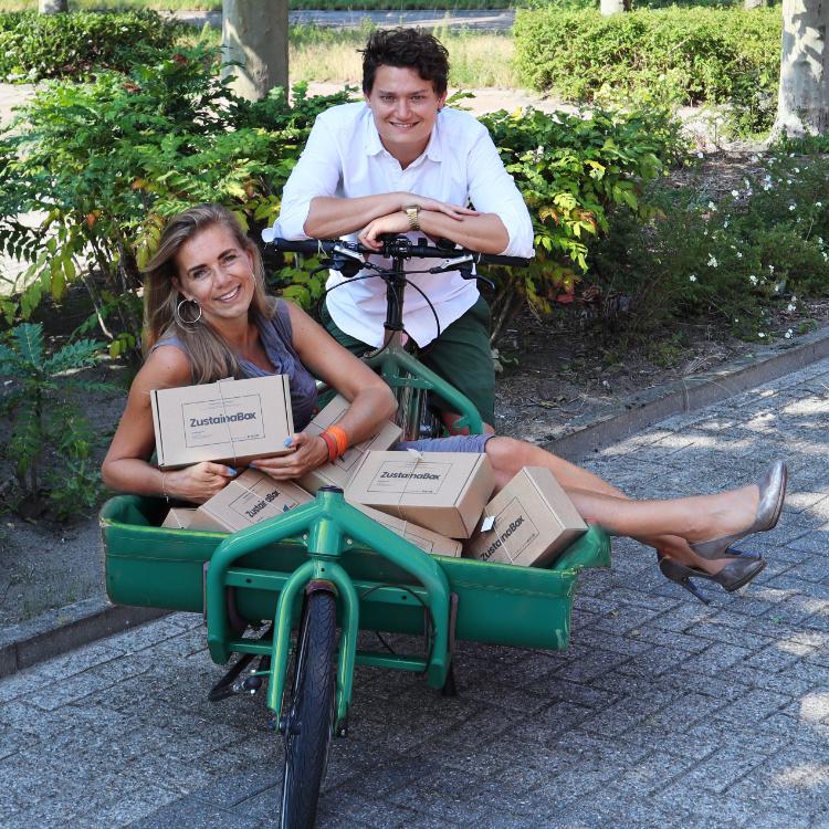 Ruben Manon fietskoerier duurzame ZustainaBox