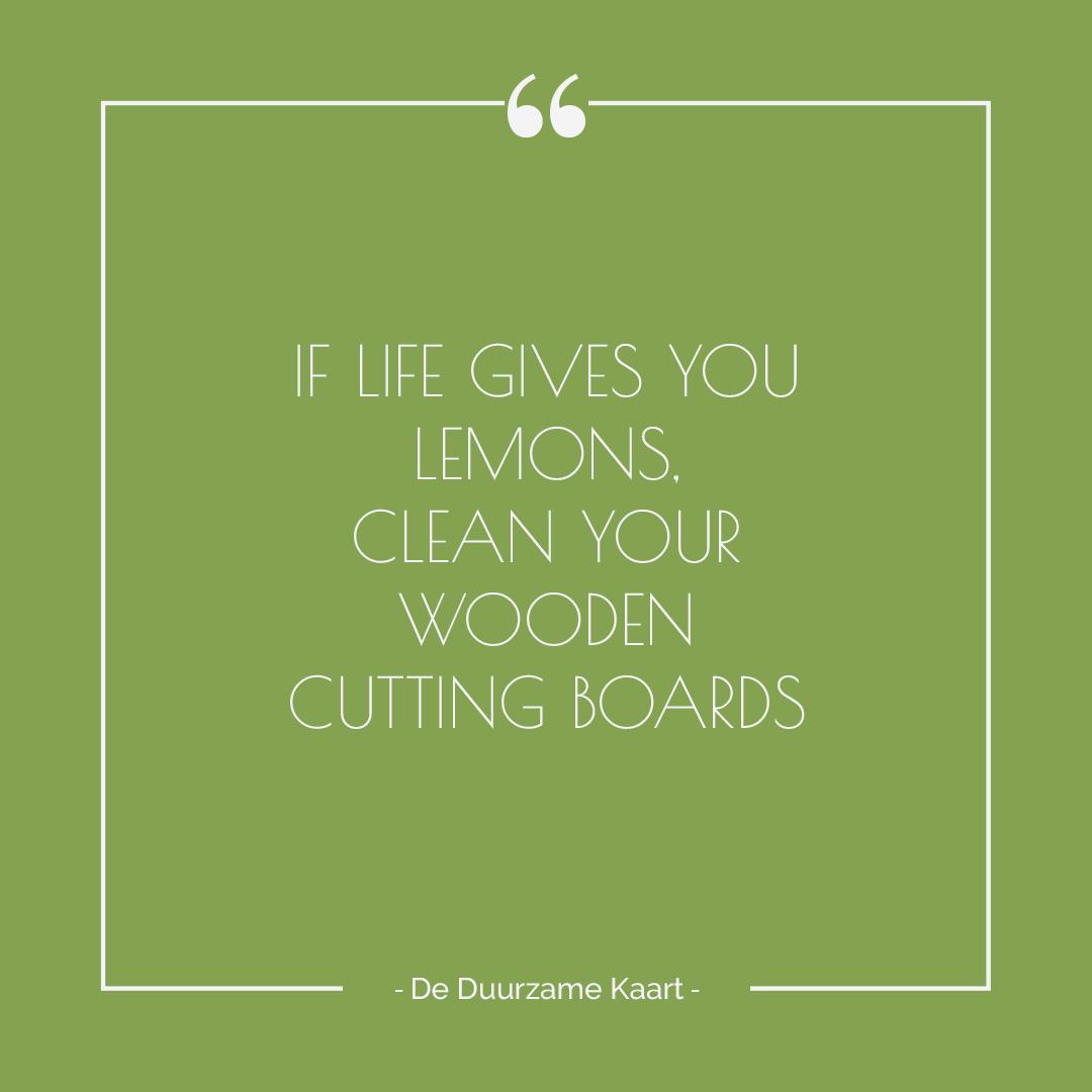 If life gives you lemons quote De Duurzame Kaart