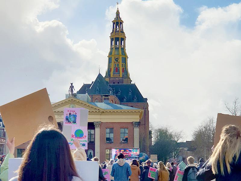 Klimaatalarm Groningen A-kerk lente