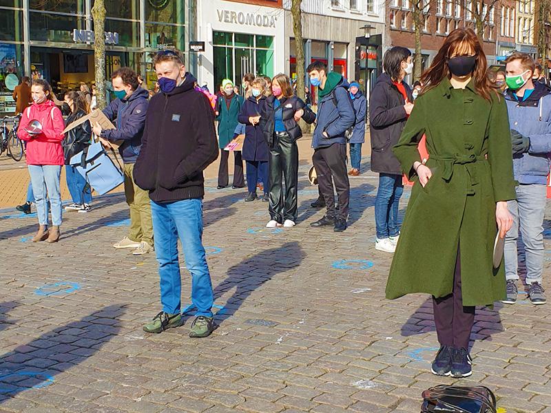 Klimaatalarm Groningen demonstreren tegen klimaatbeleid