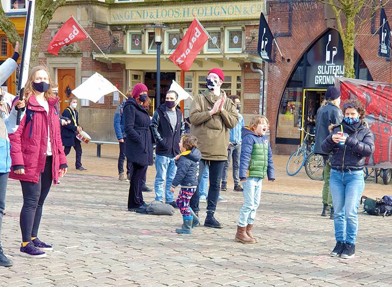 Klimaatalarm vismarkt Groningen kinderen ouders