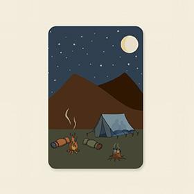 Moederdag kaarten kampeer kamperen illustratie Silly Goose