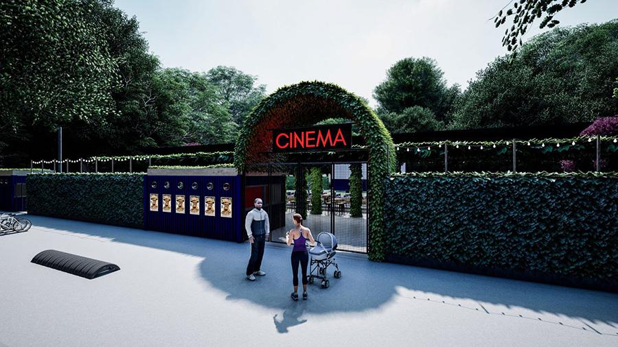 Openluchtbioscoop cinema bioscoop stadspark Groningen