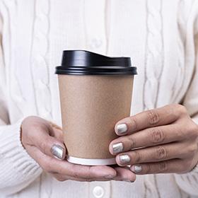 Duurzame wegwerp verpakkingen verpakking koffie to go
