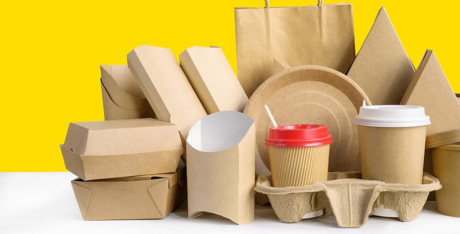 Duurzame wegwerpverpakkingen eco compost snack to go disposables